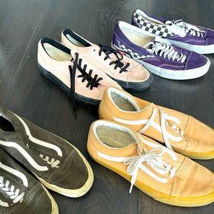 4 pairs of vans